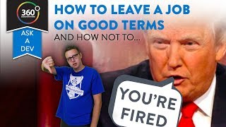 How To and How Not to Leave a Job LOL | Getting Fired and Laid Off | True Story | Ask A Dev