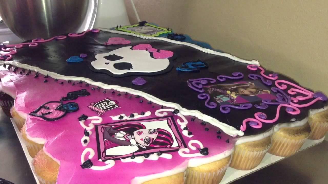 Monster High Cupcake Cake