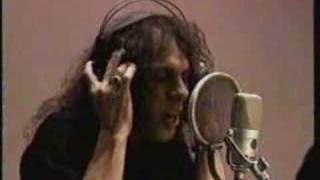 Ronnie James Dio in the studio