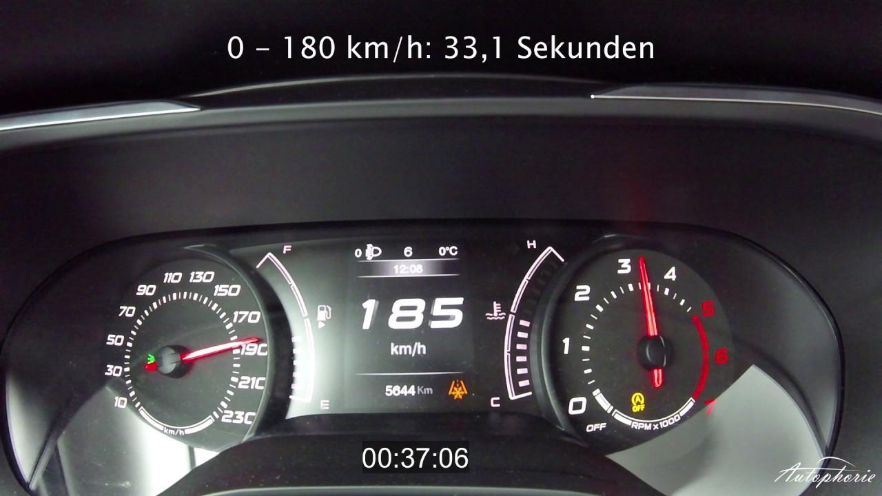 2016 Fiat Tipo 1 6 Multijet  120hp   Acceleration 0
