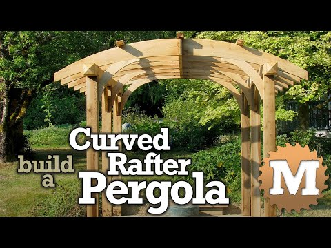 Build a Curved Rafter Cedar Pergola - Sawn Arches