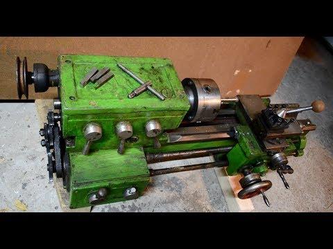 Lathe restoration. Simple lathe stand.