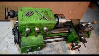 Lathe restoration. Simple lathe stand.