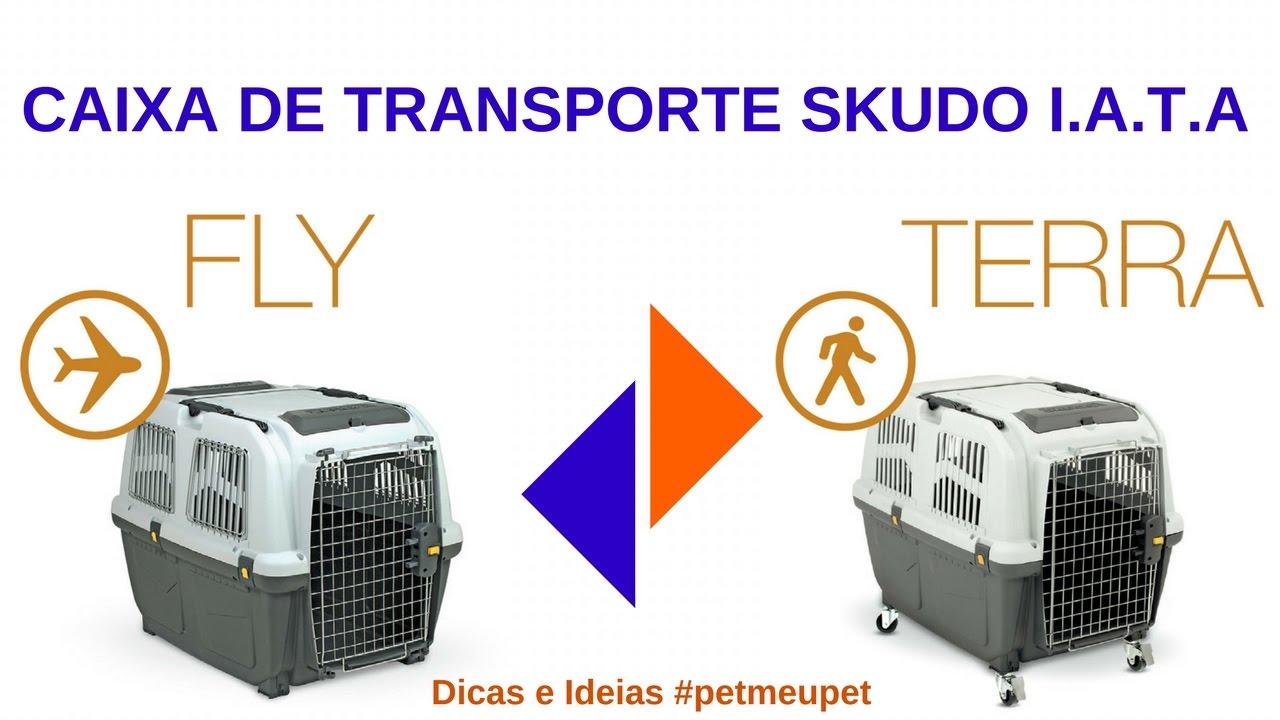 Caixa de Transporte Skudo IATA MPS para Cachorro e Gato Montagem ...