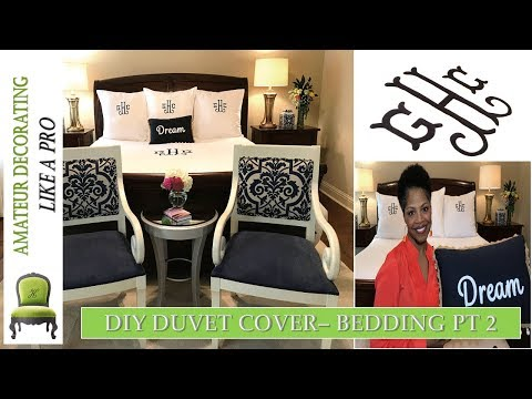 Duvet Cover DIY  | Bedscape Sheets Reviews | CUSTOM BEDDING PT 2