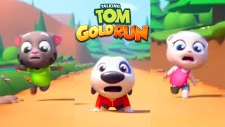 Talking Tom Gold Run Android Gameplay - Talking Tom vs Talking Angela vs Talking Hank vs Robber