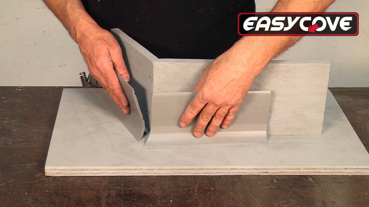 How to cut base molding in place - Easycove Polymer Pre Cast Cove Base System Informational Video