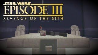 Minecraft StarWars: Anakin Skywalker Becomes Darth Vader Scene Recreation