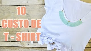 10 idées DIY de customisation de tee-shirt par YouMakeFashion - customisation de vêtements
