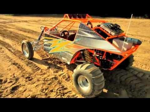 Honda CBR Mini Sandrail Motorcycle engine dune buggy chassis Build - YouTube