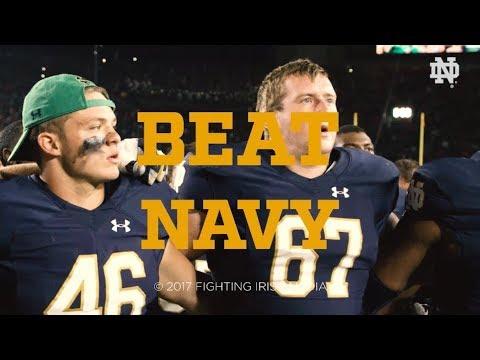@NDFootball | Go Irish, Beat Navy. (2017)