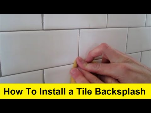 How to install a tile backsplash youtube - How to replace backsplash ...