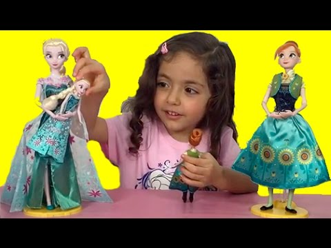 2 Frozen Surprise Eggs Opening  Elsa And Anna Dolls Dress Up In Frozen Fever Costumes - HD Video