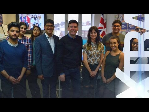 Young people quiz Andy Burnham on campaign promises