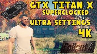 Fallout 4 PC Gameplay - 4K Ultra Settings (GTX Titan X Superclocked)