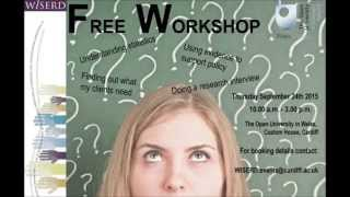 Research Training Workshop for People in the Voluntary Sector