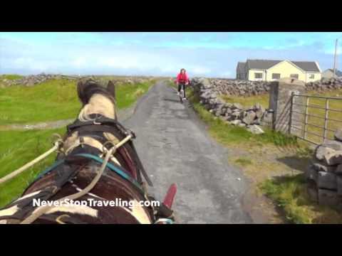 On a Horse Cart, the Aran Islands, Ireland