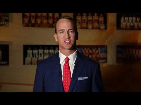 Peyton Manning Discussing The Pat Summitt Clinic