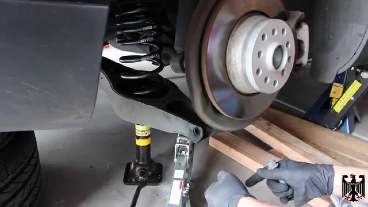 2006 2010 Vw Passat Lowering Spring Installation Rear