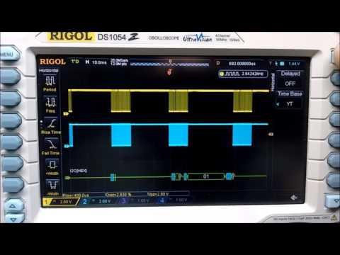 Decodificação serial I2C no Rigol DS1054z
