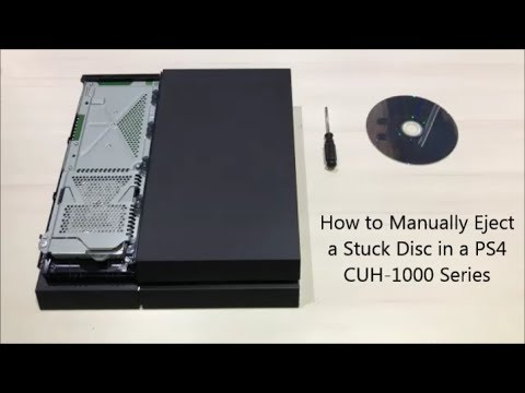 How to Manually Eject a Stuck Disc in a PS4 CUH 1000 Series