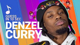 Guess in 10 Seconds | DENZEL CURRY Guesses XXXTentacion, Billie Eilish, Scarlxrd and 17 More