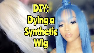Affordable Wig Transformation (DIY dying synthetic blend wig)