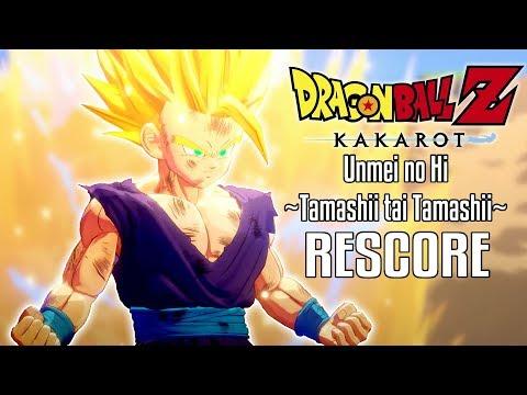Dragon Ball Z Kakarot Super Saiyan 2 Gohan Transformation Rescore Unmei no Hi Tamashii tai Tamashii