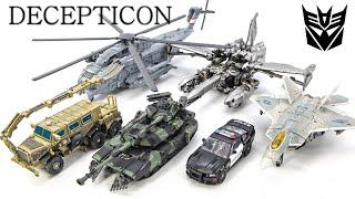 Transformers 1 DECEPTICON Barricade Brawl Bonecrusher Starscream Blackout Megatron Car Robot Toys