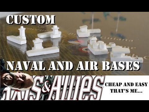 Axis and Allies Custom Naval and Air Bases