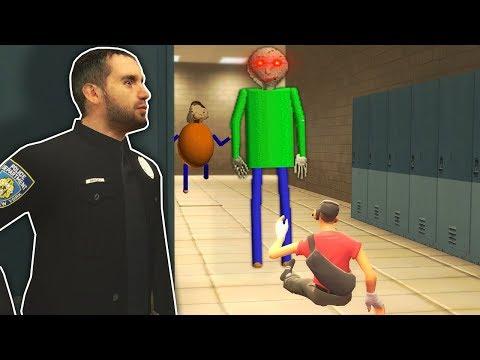 PORTAL LEADS TO BALDI'S BASICS SCHOOL! - Garry's Mod Gameplay - Gmod Multiplayer Baldi Survival