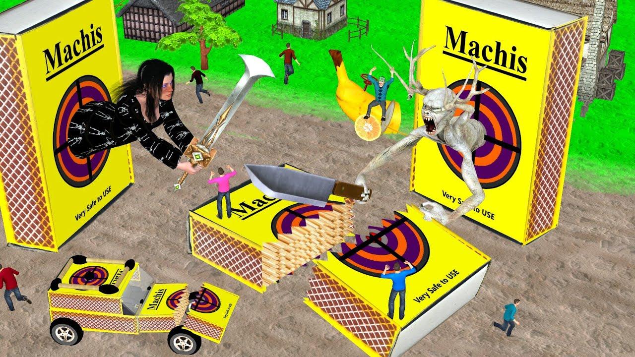जादुई टूटा माचिस जीप केला कार 3 Magical Broken Matchstick Jeep हिंदी कहानियां Kahani 3D Hindi Kahani