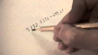 Сложение столбиком смешанных чисел