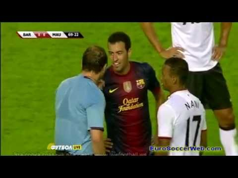 ملخص مبارة برشلونة و مانشستر يونايتد 2012  Youtube