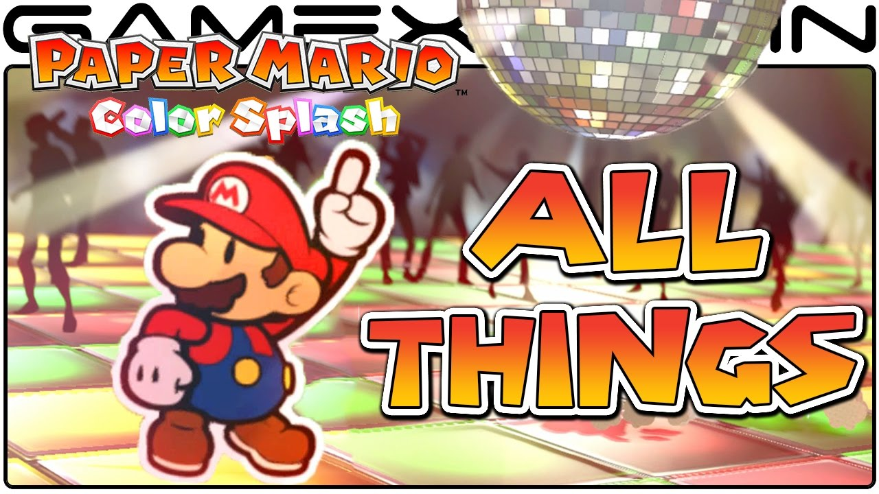 All Thing Card Animations In Paper Mario Color Splash Bowsers