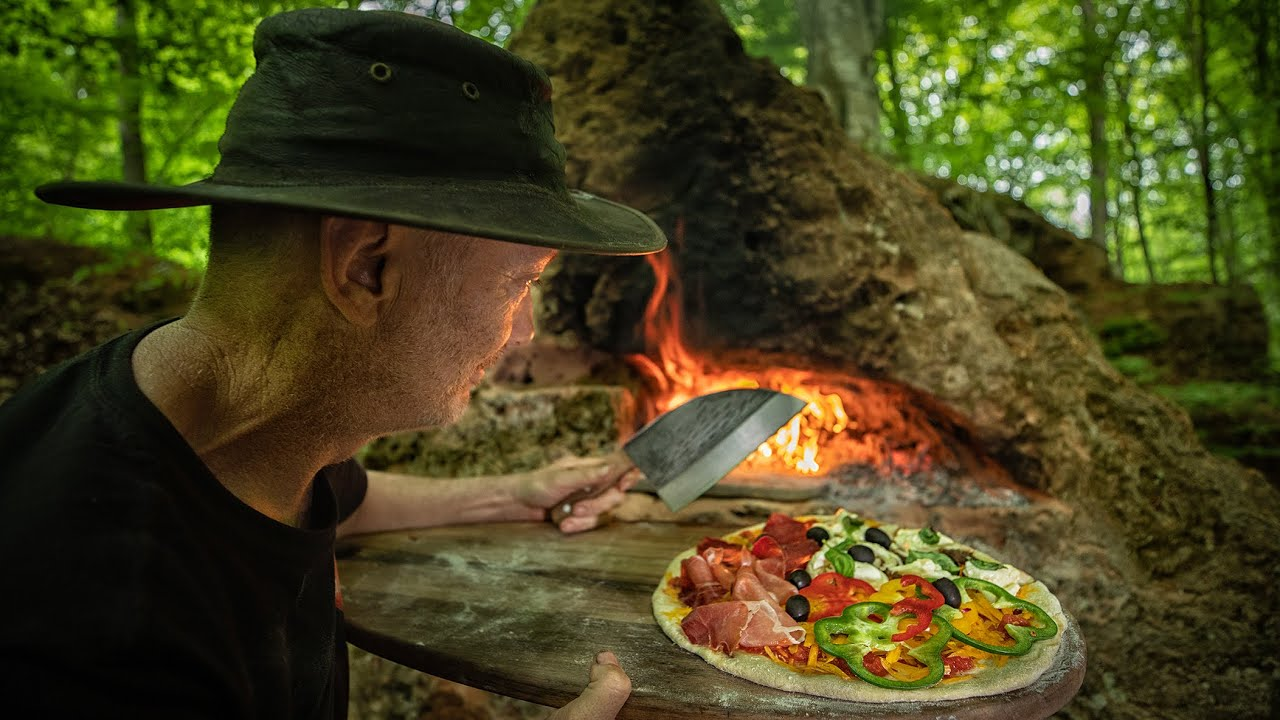 The Best Homemade Pizza You'll Ever Eat   Making Stone Oven