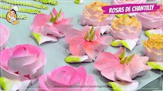 Lindas Rosas de Chantilly com Técnica Simples