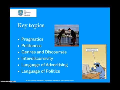 ELL352 Approaches to Discourse