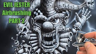 How to Airbrush the Evil Jester - Part 2