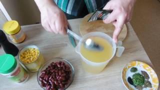 Фасолевый суп быстрого приготовления
