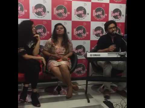 Amaal Mallik and Palak Muchhal with RjUrmin at Fever104FM