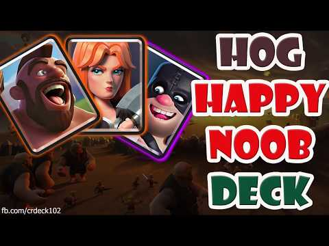Hog Valkyrie Executioner Deck 👍👍👍 Hog Happy Noob Clash Royale Deck