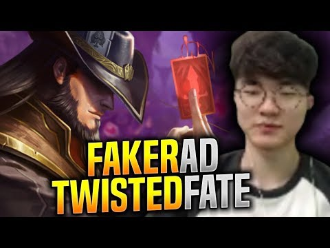 FAKER Plays AD TWISTED FATE AGAIN! - SKT T1 Faker Plays Twisted Fate vs Akali Mid!   S9 KR SoloQ