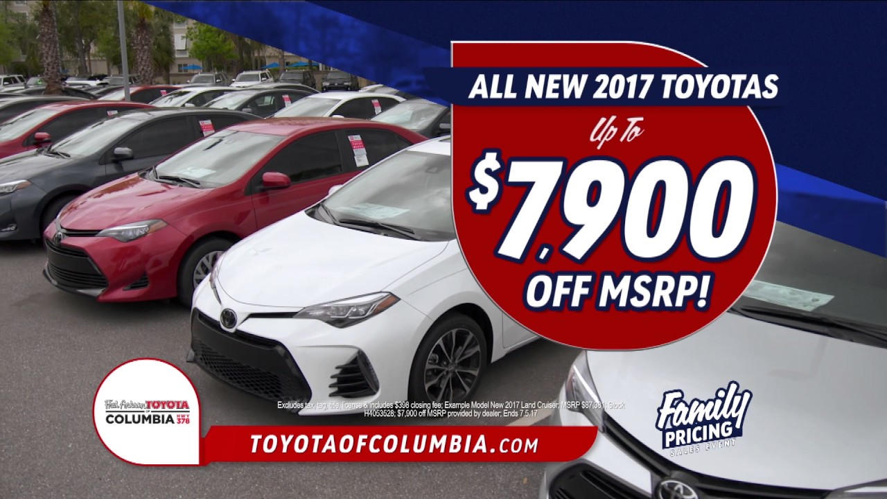 Fred Anderson Toyota Of Columbia Family Pricing Youtube