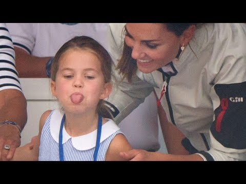 Watch Princess Charlotte Stick Her Tongue Out At Reporters!