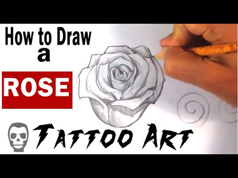 How To Draw A Rose Tattoo Art Youtube