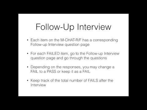 M-CHAT-R/F Follow-Up Interview Instructions