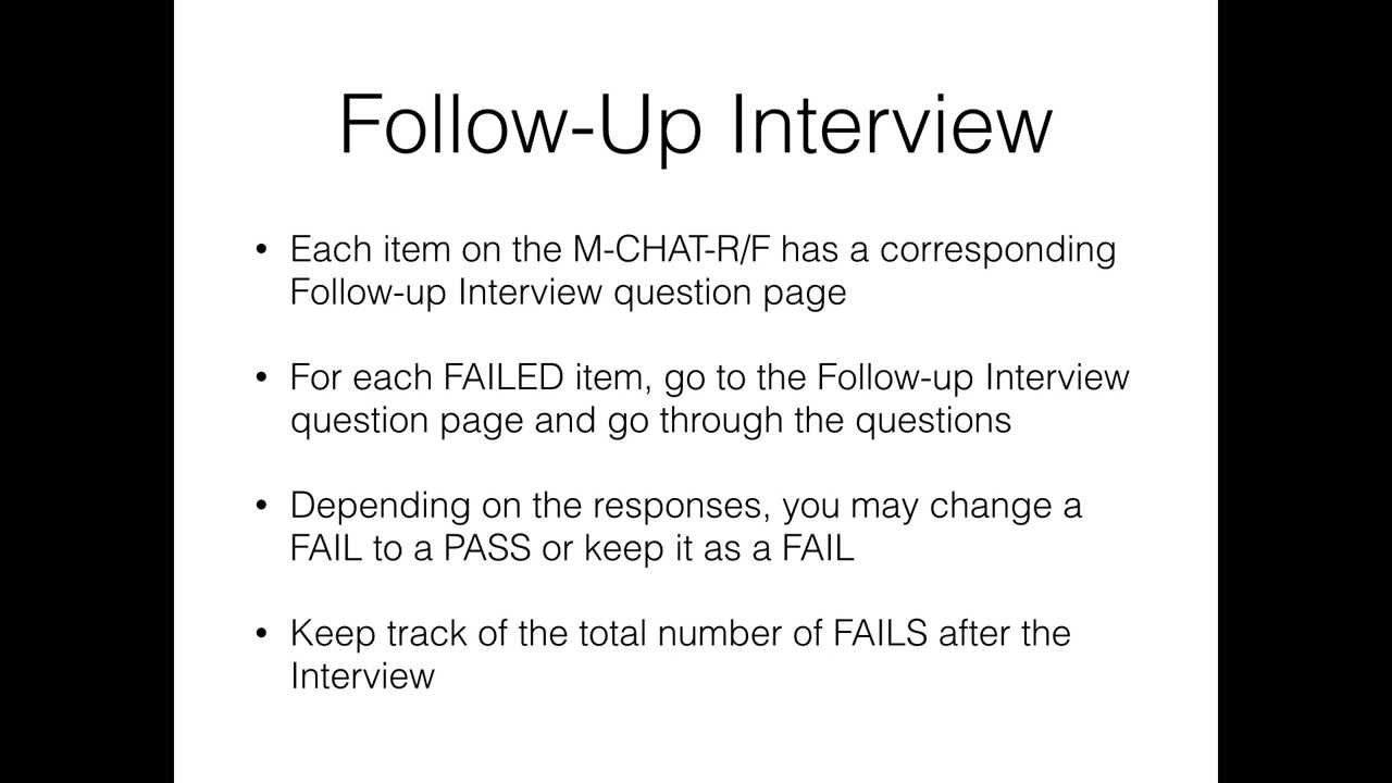 m chat r f follow up interview instructions m chat r f follow up interview instructions