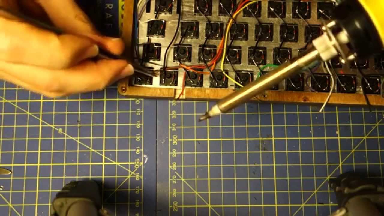 Cable Box Wiring Diagram Energy Level For Boron Hand-wiring A Custom Keyboard (montage) - Youtube