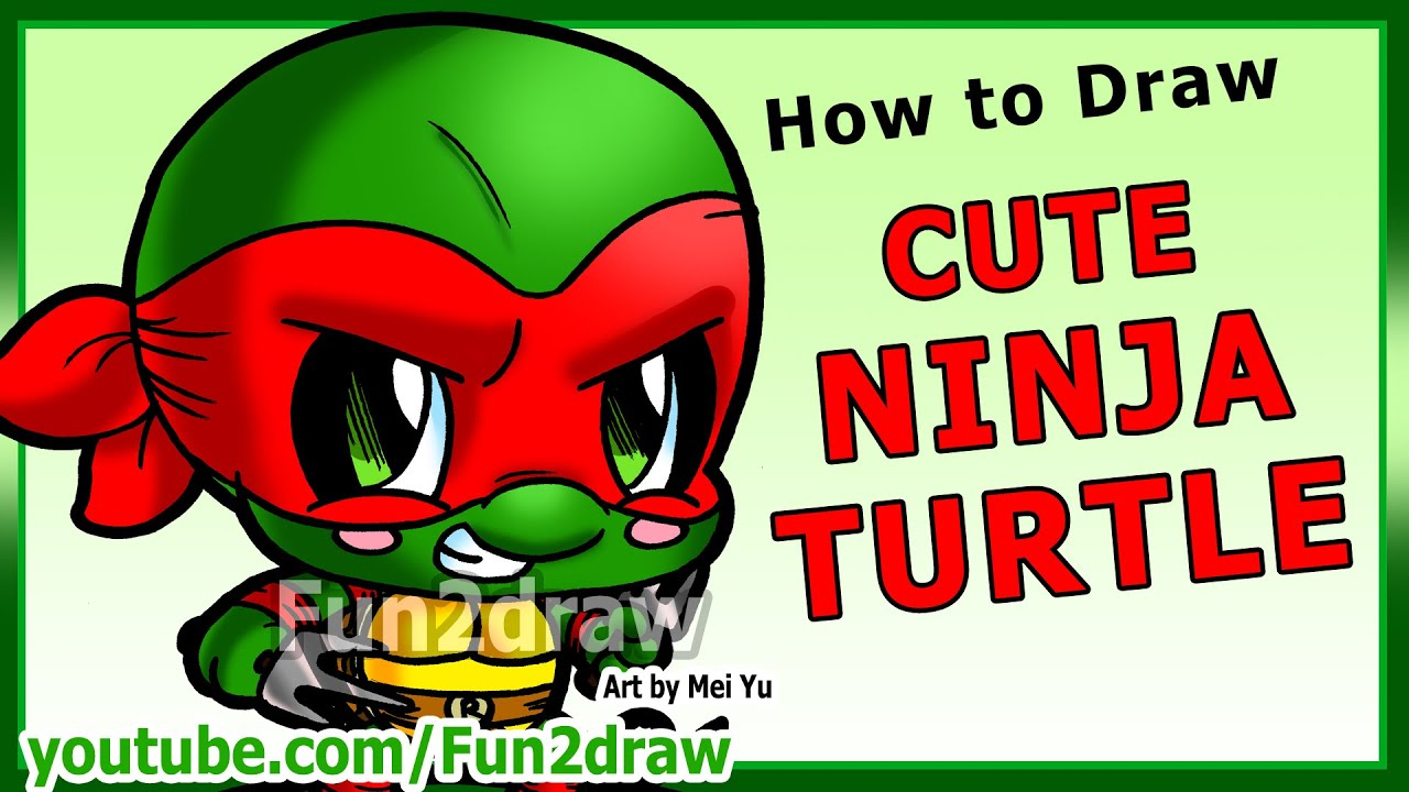 Learn To Draw A Ninja Turtle  Art Lessons Fun2draw Drawing Tutorial